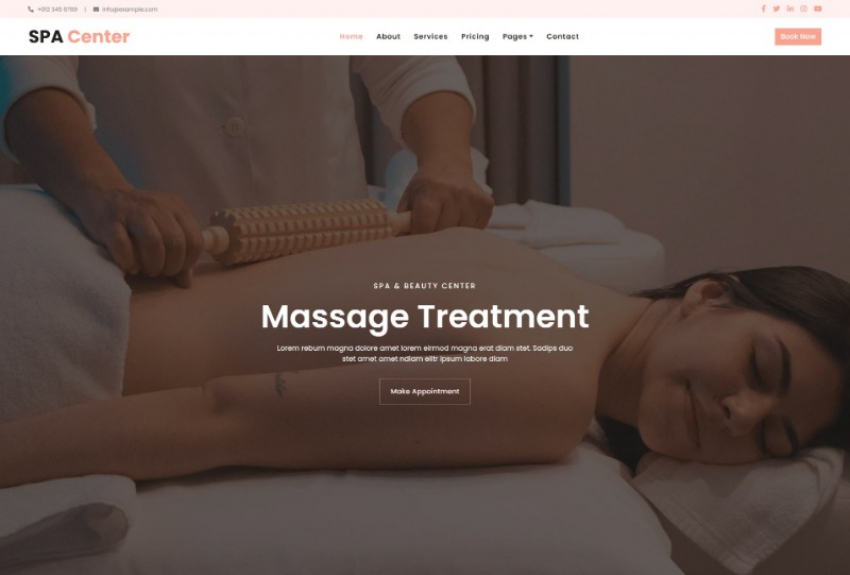 SPA Center – Beauty & Spa HTML Template