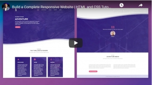 Build a Complete Responsive Website | HTML and CSS Tutorial