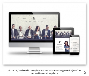 Human Resource Management Joomla recruitment template