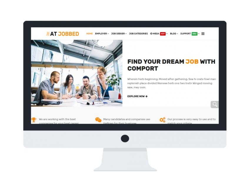 AT Jobbed - Free Responsive Joomla Job template