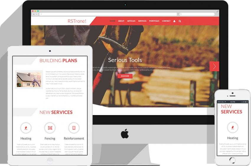 RSTrone - Free Business Joomla Template