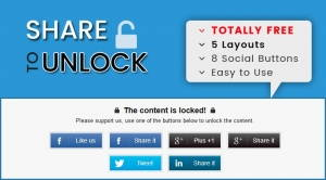 Sj Social Locker - Free Share to Unlock Joomla! Plugin