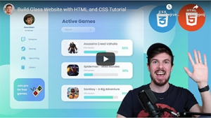 Build Glass Website with HTML and CSS Tutorial
