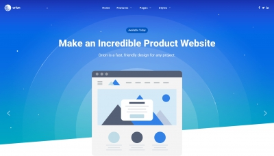 About Orion | Joomla template