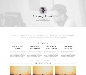 INITIO - Free Personal Website Design HTML5 Template