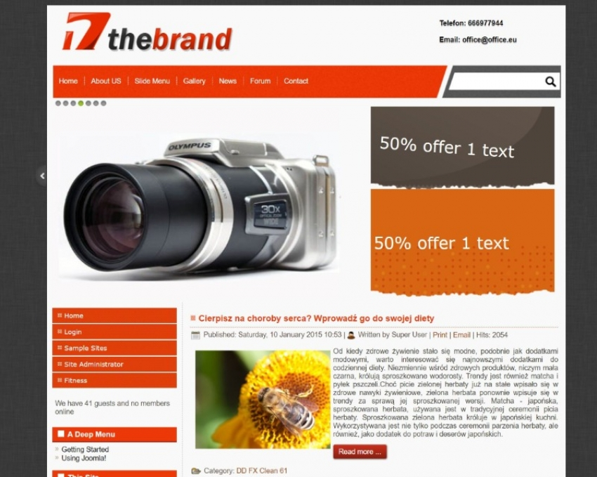 DD The Brand 17 - Free Joomla template