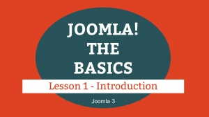 Joomla 3 Tutorial