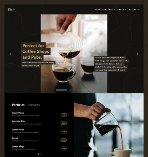Elixir - Rocket theme Joomla template