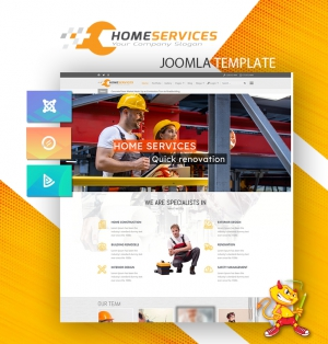 DD HomeServices 125 - Joomla template for construction, renovation companies
