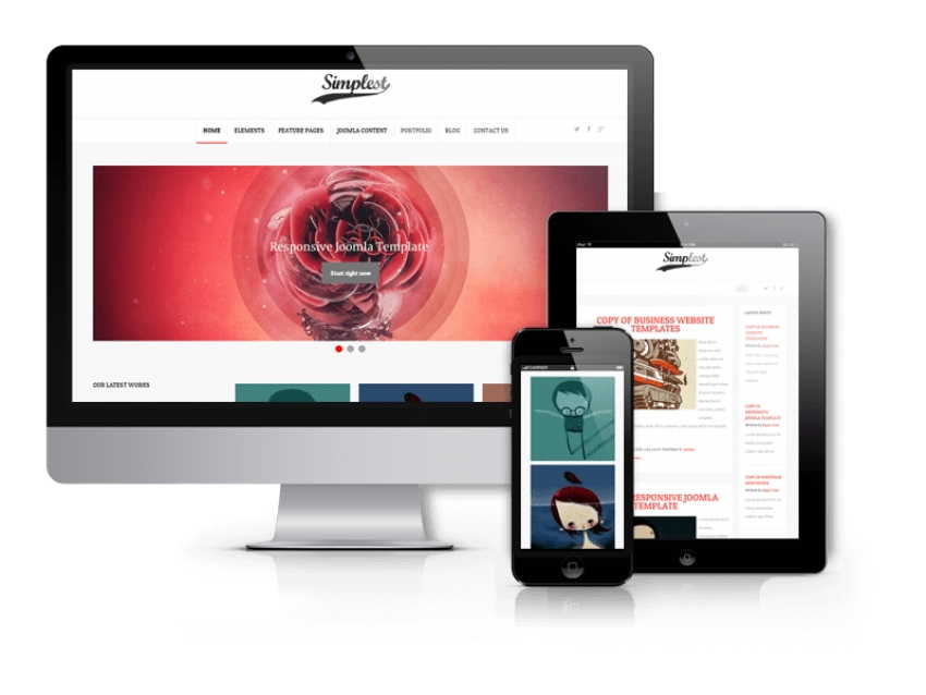 Simplest - Joomla  Blog Template