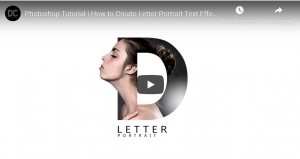 Photoshop Tutorial How to Create Letter Portrait Text Effect