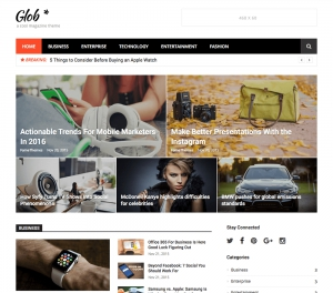 Glob Cool Magazine free  WordPress Theme
