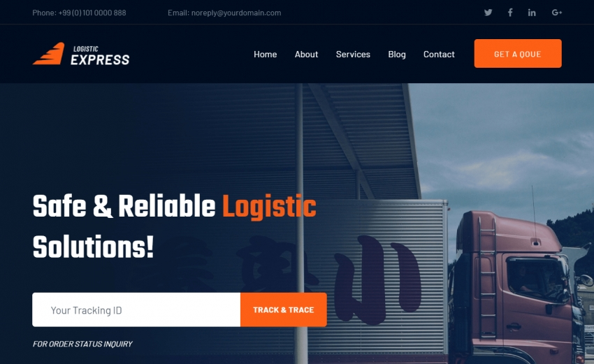 LogisticExpress - Free Bootstrap 4 HTML5 Logistic Company Website Template