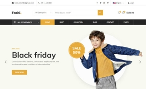 Fashi - Free Bootstrap 4 HTML5 eCommerce Website Template