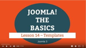 Joomla 3 Tutorial - Lesson 14 - Templates