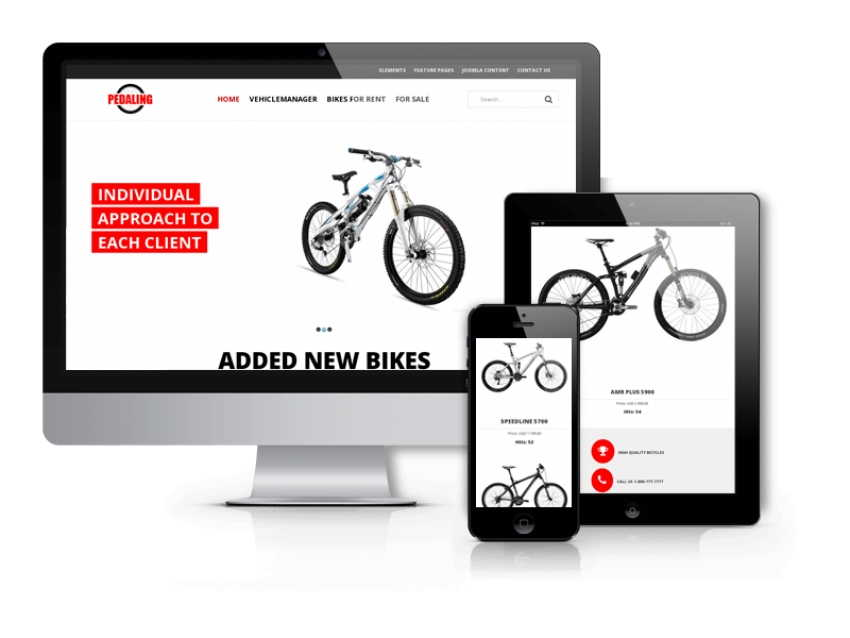 Pedaling - bike & bicycle Joomla template