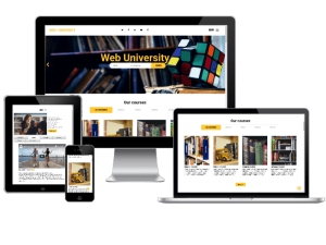 Web University, Education website template