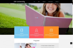 ESP University  e-learning free Joomla template