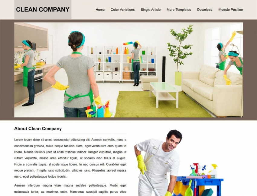 Image result for joomla theme clean room