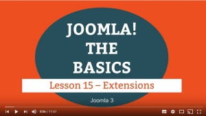 Joomla 3 Tutorial - Lesson 15 - Extensions