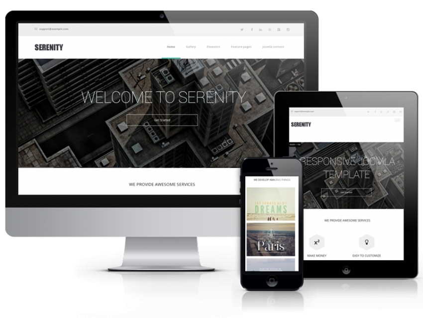 Serenity - Modern Website Template
