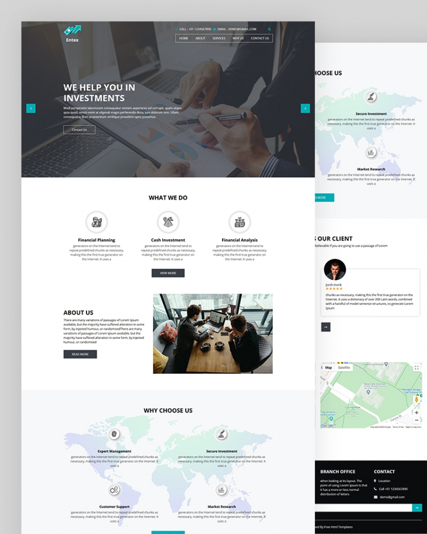 Entex – Investment HTML Template