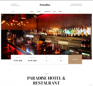 Paradise Hotel Booking Joomla Template