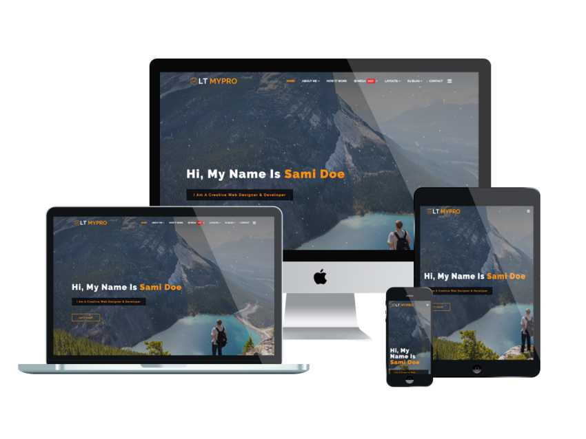 LT MyPro - Free profile website template
