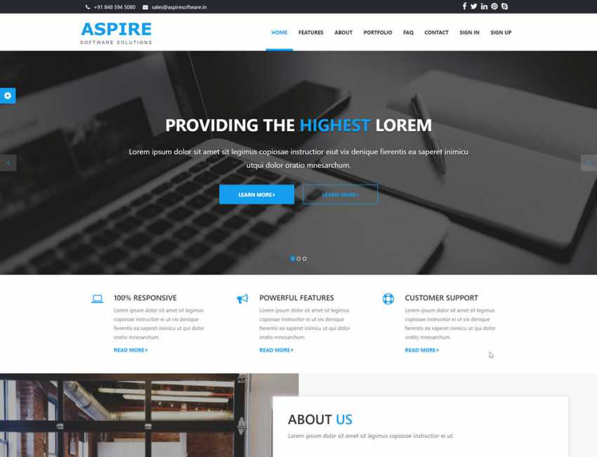 Debut- Free bootstrap template
