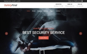 SafetyFirst – Security Guard Website Template