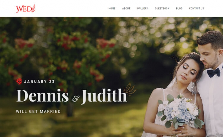 Wed - Free Bootstrap 4 HTML5 Wedding Website Template