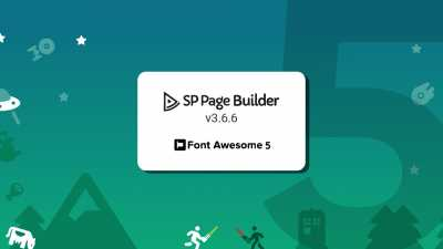 Update: SP Page Builder v3.6.6 armed with Font Awesome 5