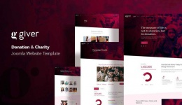 Giver: A Compelling Charity Website Joomla Template