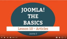 Joomla 3 Tutorial - Lesson 10 - Articles