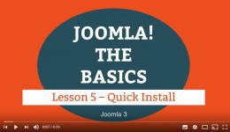 Joomla 3 Tutorial - Lesson 05 - Quick Install