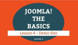 Joomla 3 Tutorial - Lesson 04 - Demo Site