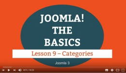 Joomla 3 Tutorial - Lesson 09 - Categories