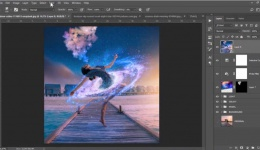 How to create Galaxy Manipulation in Photoshop - Photo Editing Tutorial